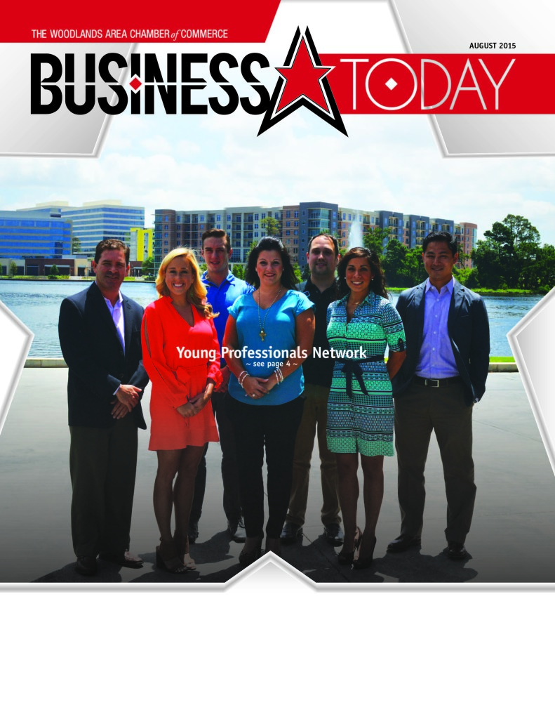 Brian Albert, far right, is an ambassador for the Young Professionals Network of The Woodlands Area Chamber of Commerce.