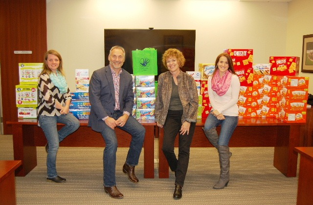 "The Strong Firm PC office staff participated in ""No Snack November "" and collected items to donate to Children's Safe Harbor"