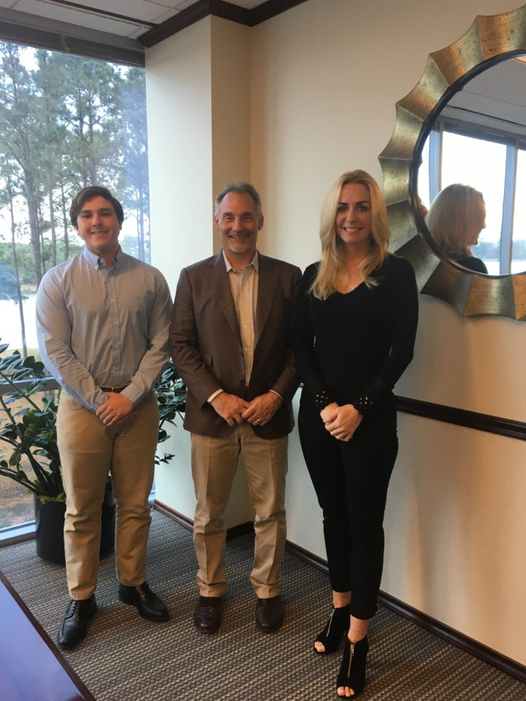 The Strong Firm PC is proud to support local charitable organization 21 Strong Foundation by sponsoring the formation of the non-profit. Shown here are Grant Saettone (left) and Mary Saettone (right) with The Strong Firm PC Managing Shareholder, Bret Strong (center).