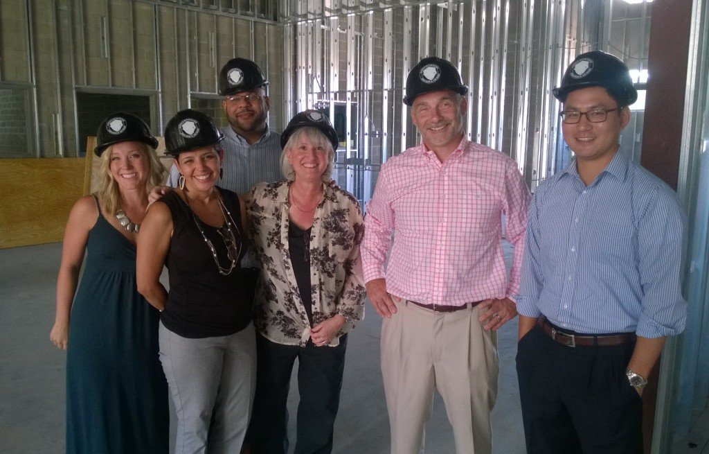 The Strong Firm attended a hard-hat tour of Saddle River Range to be opened later this year.